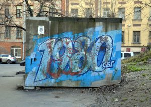 odstranění graffiti z autobusové zastávky