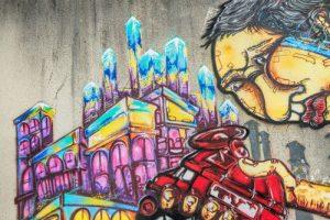 graffiti na ochráněné ploše