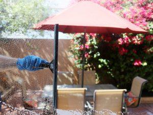 Mytí zimních zahrad a altánků