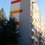 Mor zateplených fasád v Praze - černé plísně