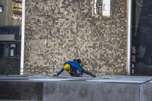 Mytí prosklené fasády