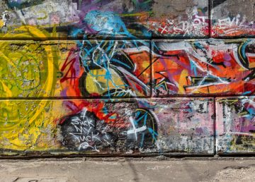 Prostějov, fasády a graffiti