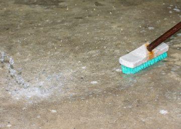 betonové podlahy mytí