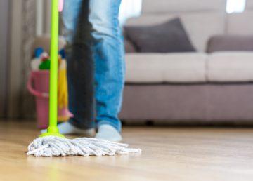 mytí betonové podlahy